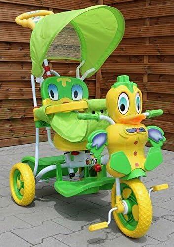 Triciclo - Mecedora infantil 2 In 1 Pato Triciclo Musical - Verde