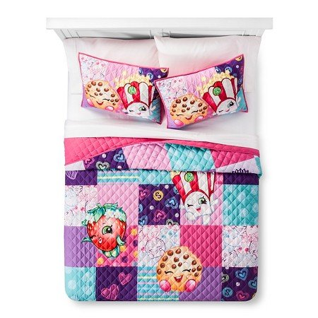 Shopkins Full/ Queen Quilt and Sham Set