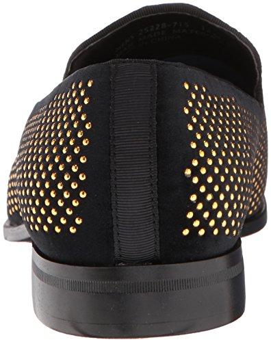 Stacy Adams Mens Swagger Con Borchie Ornamento Slip-on Driving Style Mocassino Nero / Oro