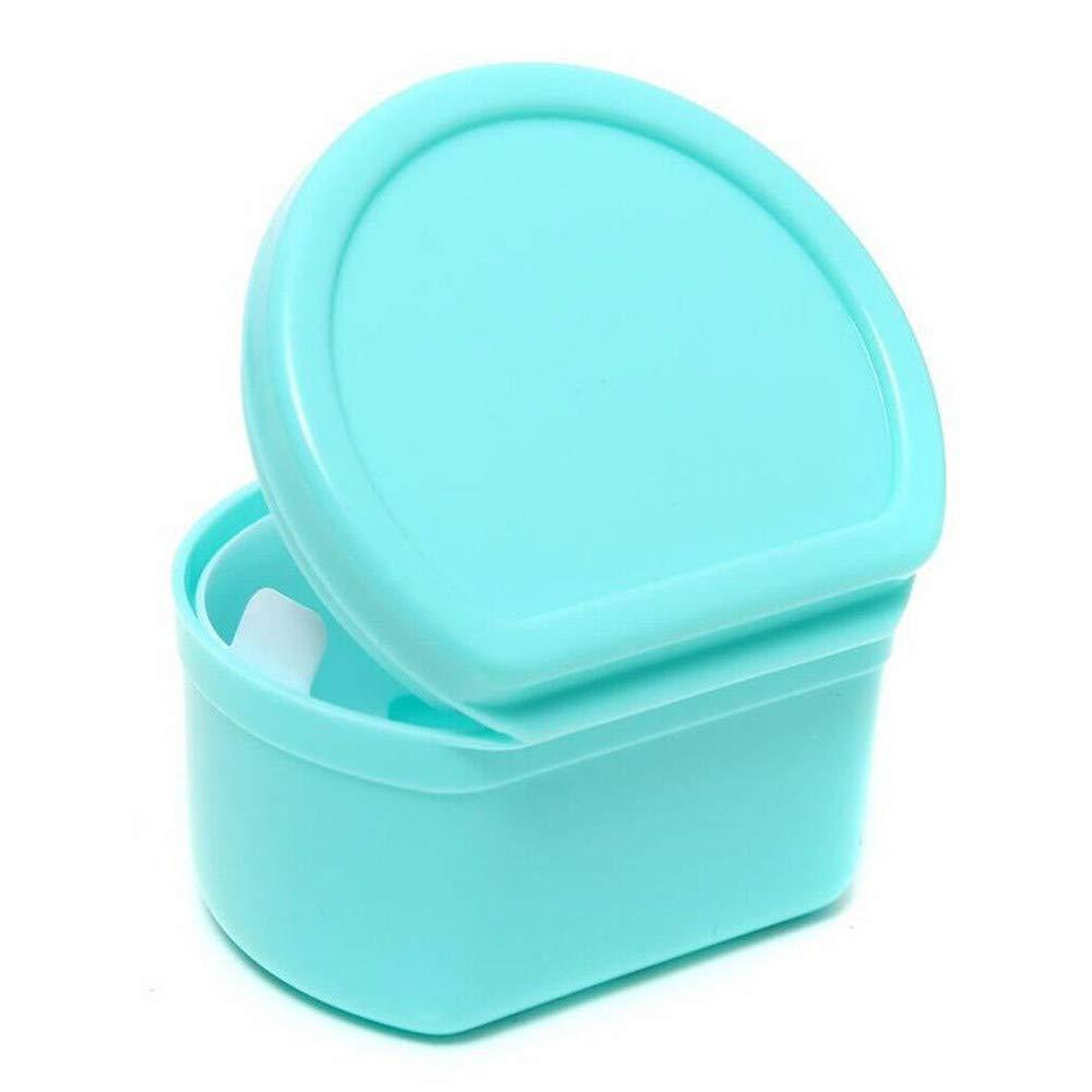 Orthodontic Mouth Guard Denture Retainer Box Dental Storage Container Portable,LightBlue,10Pcs