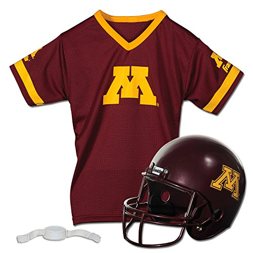 Merchandise Minnesota Gophers - Franklin Sports NCAA Minnesota Golden Gophers Helmet and Jersey Set