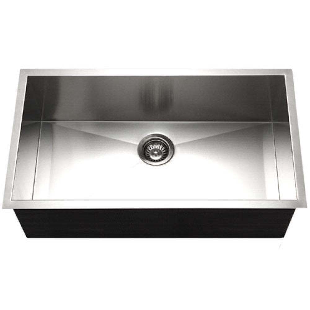 Houzer CTG 3200 Contempo Gourmet Undermount Large Single Bowl Kitchen Sink    Kitchen Sink Undermount Stainless Steel   Amazon.com