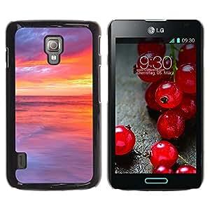 Paccase / SLIM PC / Aliminium Casa Carcasa Funda Case Cover - Sunset Beautiful Nature 48 - LG Optimus L7 II P710 / L7X P714