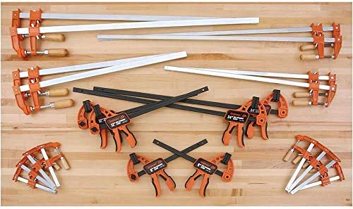 """NEW Jorgensen 4-Pack Assorted Bar Clamp 2 x 6/"""" /& 2 x 12/"""" 600lbs Medium Duty"""
