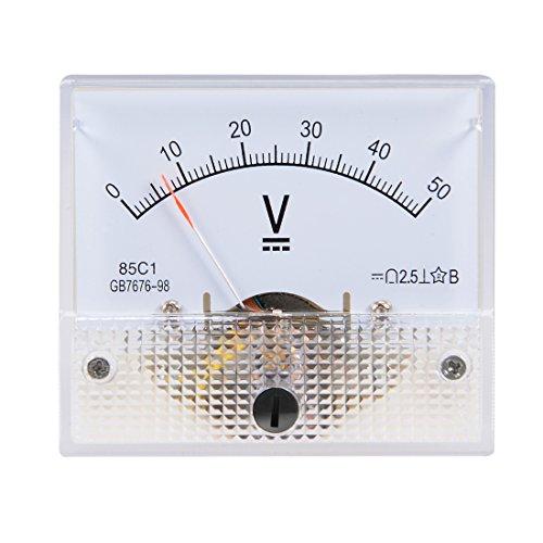 uxcell DC 0-50V Analog Panel Voltage Gauge Volt Meter 85C1 2.5% Error