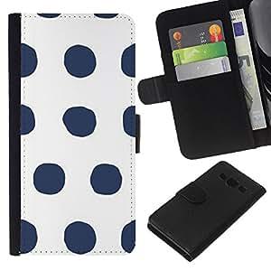 WINCASE Cuadro Funda Voltear Cuero Ranura Tarjetas TPU Carcasas Protectora Cover Case Para Samsung Galaxy A3 - Modelo de punto gris minimalista blanco