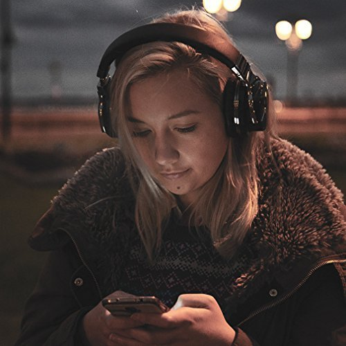 Large Product Image of COWIN E7 Active Noise Cancelling Headphones Bluetooth Headphones with Mic Deep Bass Wireless Headphones Over Ear, Comfortable Protein Earpads, 30H Playtime for Travel Work TV PC Cellphone - Black