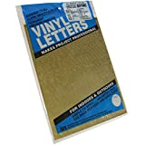 "Graphic Products Permanent Adhesive Vinyl Letters and Numbers (852/pkg), .5"", Gold"