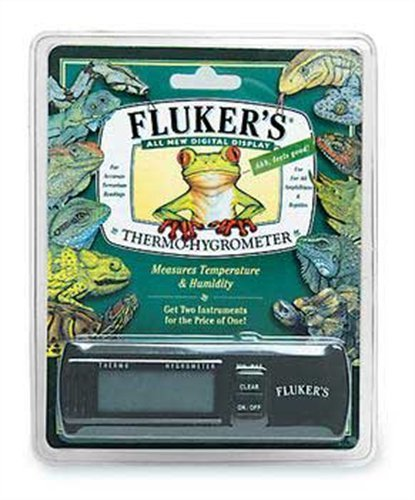 Flukers Digital Thermometer/Hygrometer for Reptiles