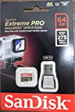 Sandisk Extreme Pro - Flash memory Card - 64 GB - microSDXC UHS-II - black, Red