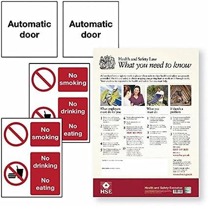 señales de seguridad para puertas correderas kit 20 - carteles ...