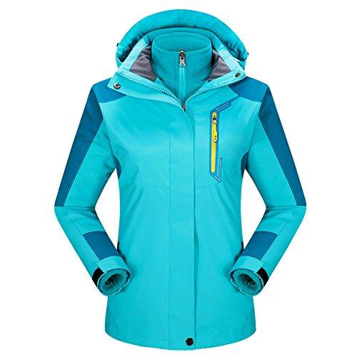 In Sci Pioggia Lago Primavera Giacca Con 3 Donne Invernali Laozan Impermeabile Softshell 1 Pile Cappotto Blu Autunno Cappuccio 45OIWpA