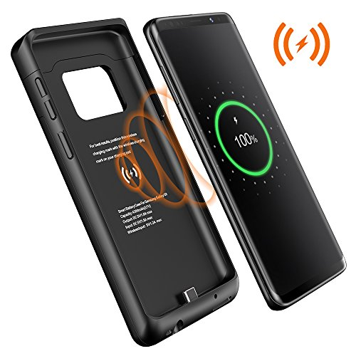 Galaxy S9 Battery Case,Qi Wireless Charging Charger case,Treblewind[4200mAh] Portable Rechargeable Battery Pack Protective Charging Case for Samsung Galaxy S9(5.8) Backup Power Case-Black