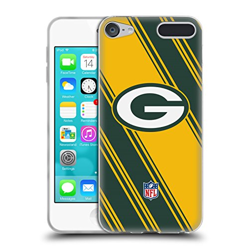 Official NFL Stripes 2017/18 Green Bay Packers Soft Gel Case for Apple iPod Touch 6G 6th Gen