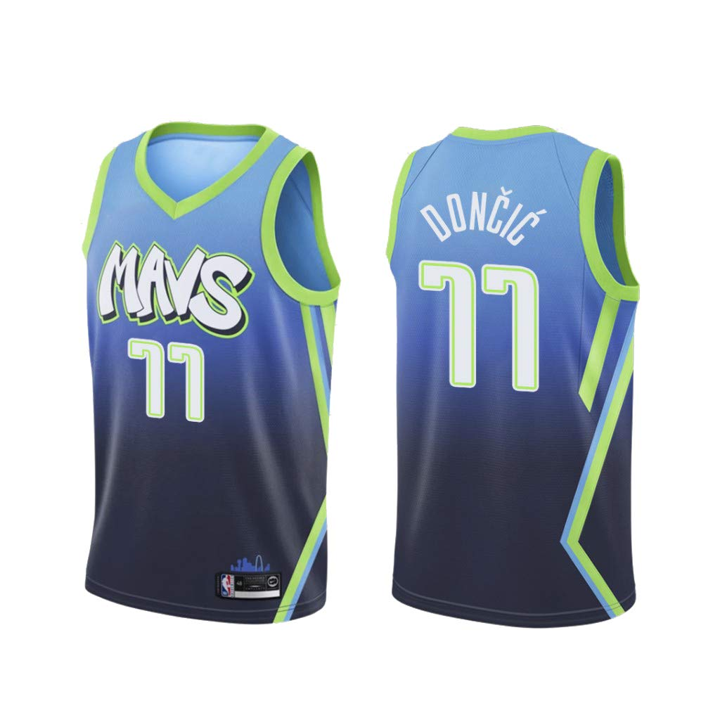 uSport Luka Doncic - Dallas Mavericks #77 Camiseta de Baloncesto ...
