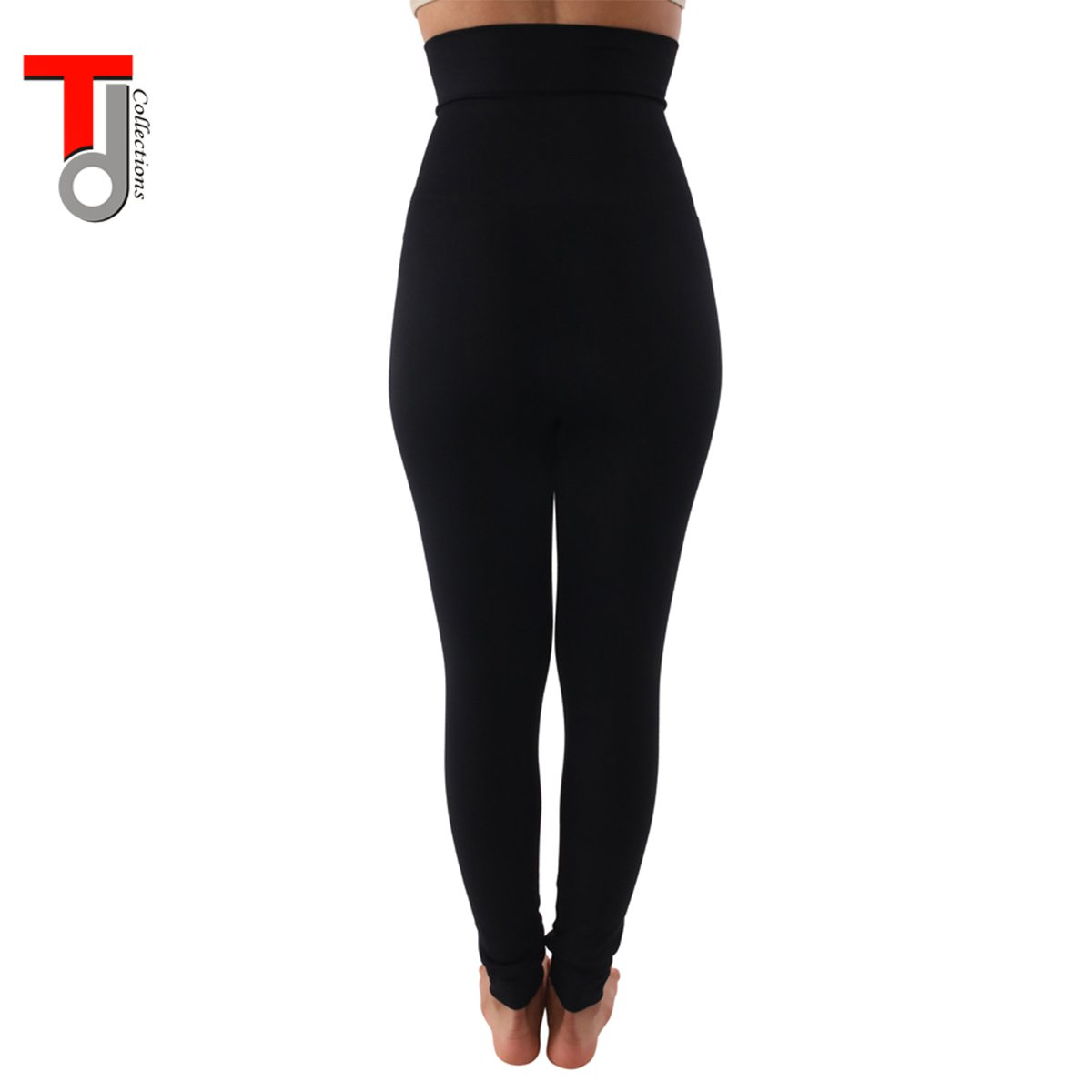 39992d91e13 TD Collections Women s High Waist Fleece Lined Leggings - Buttery Soft  Stretchy Slimming Pants - Tummy Control Thick Tights - Black at Amazon  Women s ...