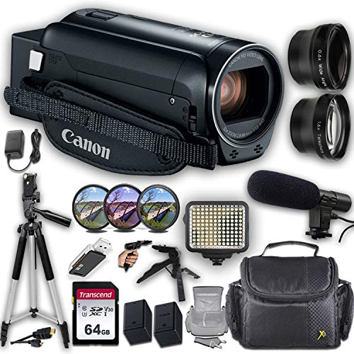 Canon VIXIA HF R800 Camcorder + Professional Video Accessory Bundle