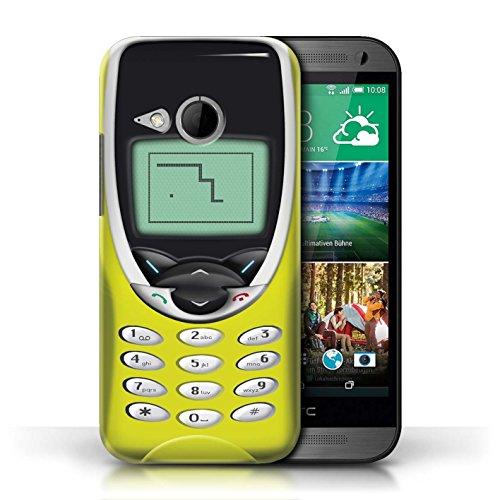 Etui / Coque pour HTC One/1 Mini 2 / Nokia 8210 jaune conception / Collection de Portables rétro