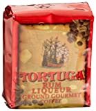 Tortuga Rum Liqueur Gourmet Ground Coffee, 8-Ounce Bags (Pack of 4)