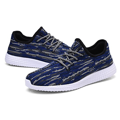 TIOSEBON Mens Lightweight Sports Running Shoes Fashion Breathable Sneakers 8268 Navy 9Po92a