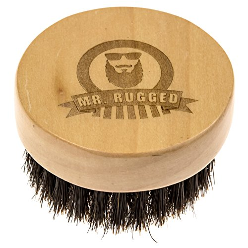 Price comparison product image Mr Rugged Beard Brush - Premium Wood Brush with 100% Boar Bristles for Beards - Perfect for Applying Beard Balm & Beard Oil
