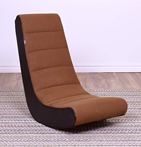 THE CREW FURNITURE Classic Video Rocker Gaming Chair, Costa Brown ()