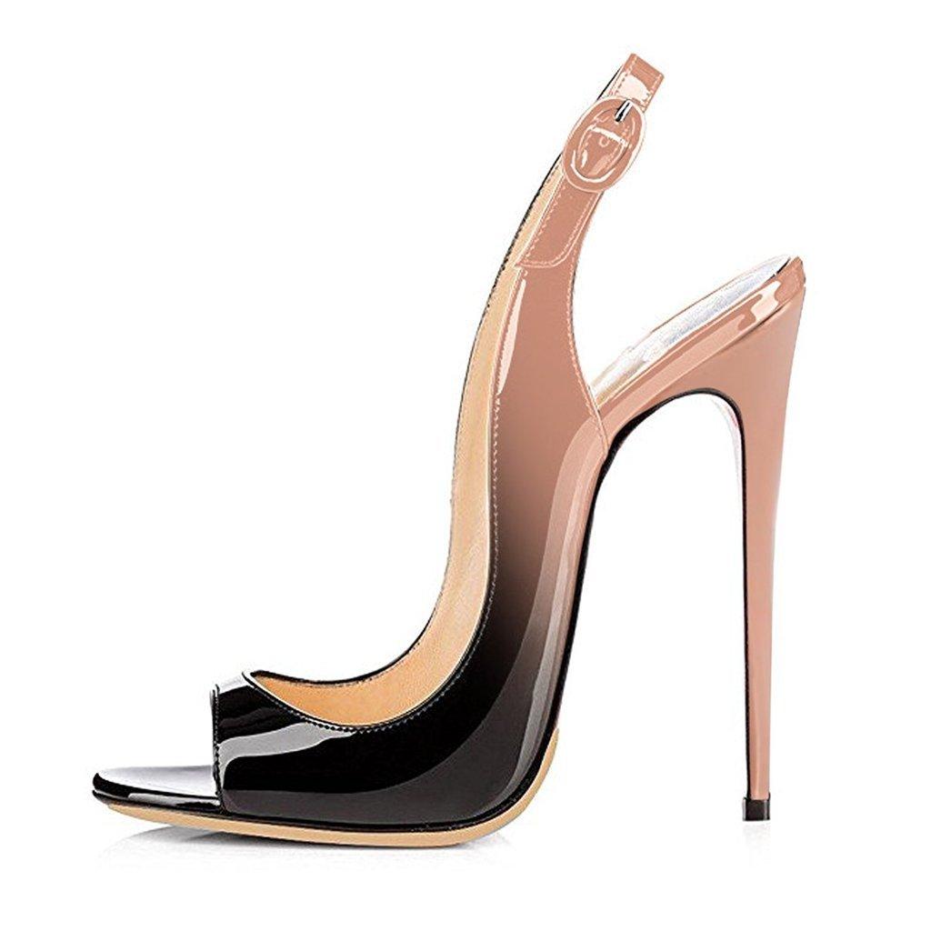 elashe Femmes Artisan Fashion Sandales Sandales Décolletés de Bout Noir-Nu Ouverts Chaussures à Talon Haut de 120mm Noir-Nu 4209eac - conorscully.space