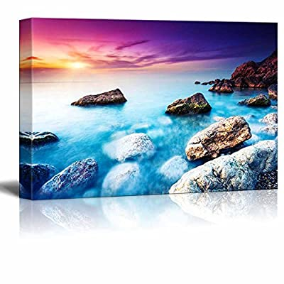 Canvas Prints Wall Art - Majestic Summer Sunset Over The Sea. Dramatic Sky. Crimea, Ukraine, Europe - 32