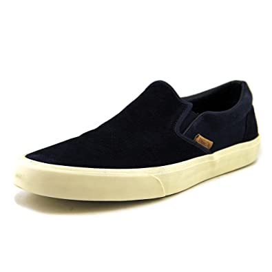 ad1454f947 VANS - CLASSIC SLIP ON CA - knit suede dress blues