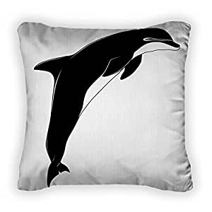 Gear New Dolphin, Tattoo Throw Pillow,