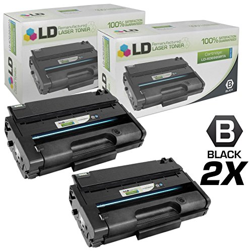 LD Remanufactured Toner Cartridge Replacement for Ricoh 406989 High Yield (Black, 2-Pack)