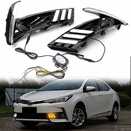 [해외]GZYF Pair LED Daytime Running Light (DRL) Turn Signal Lamp Assembly Compatible with 2017 Toyota Corolla / GZYF Pair LED Daytime Running Light (DRL) Turn Signal Lamp Assembly Compatible with 2017 Toyota Corolla