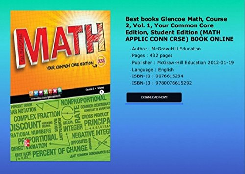 Florida Math Your Florida Standards edition Course 2 Volume 1