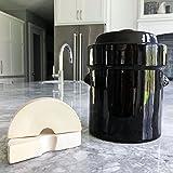 "Humble House HHSK105 SAUERKROCK ""Original"" 5 Liter (1.3 Gallon) Fermentation Crock with Weights - Traditional Fermenter for Pickling and Fermenting Healthy Sauerkraut, Kimchi, Kombucha and More!"