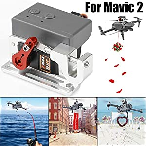 YUYOUG Drone Clip Payload Delivery Drop Transport Device Drone Release Fishing Bait Carrying Wedding Proposal Device For DJI MAVIC 2 Pro/Zoom 51Wiox4SkML
