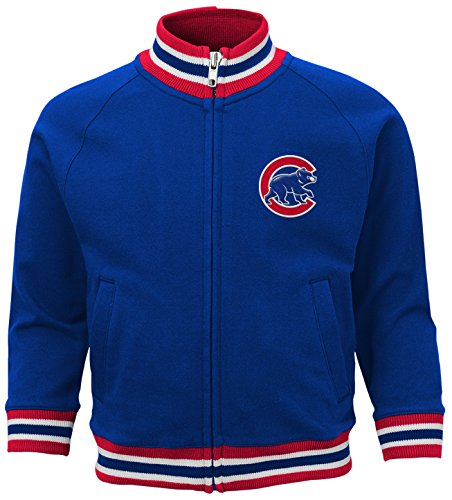 MLB Chicago Cubs Boys 4-7 Baseball Run Track Jacket-M (5-6), Deep - Cubs Jacket Chicago