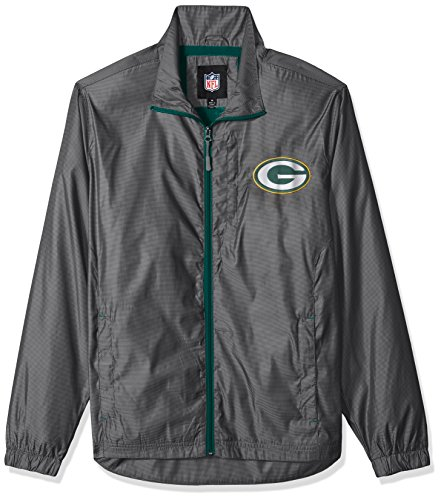 G-III Sports NFL Green Bay Packers The Executive Full Zip Jacket, XX-Large, Charcoal Gray (Green Bay Packers Apparel)