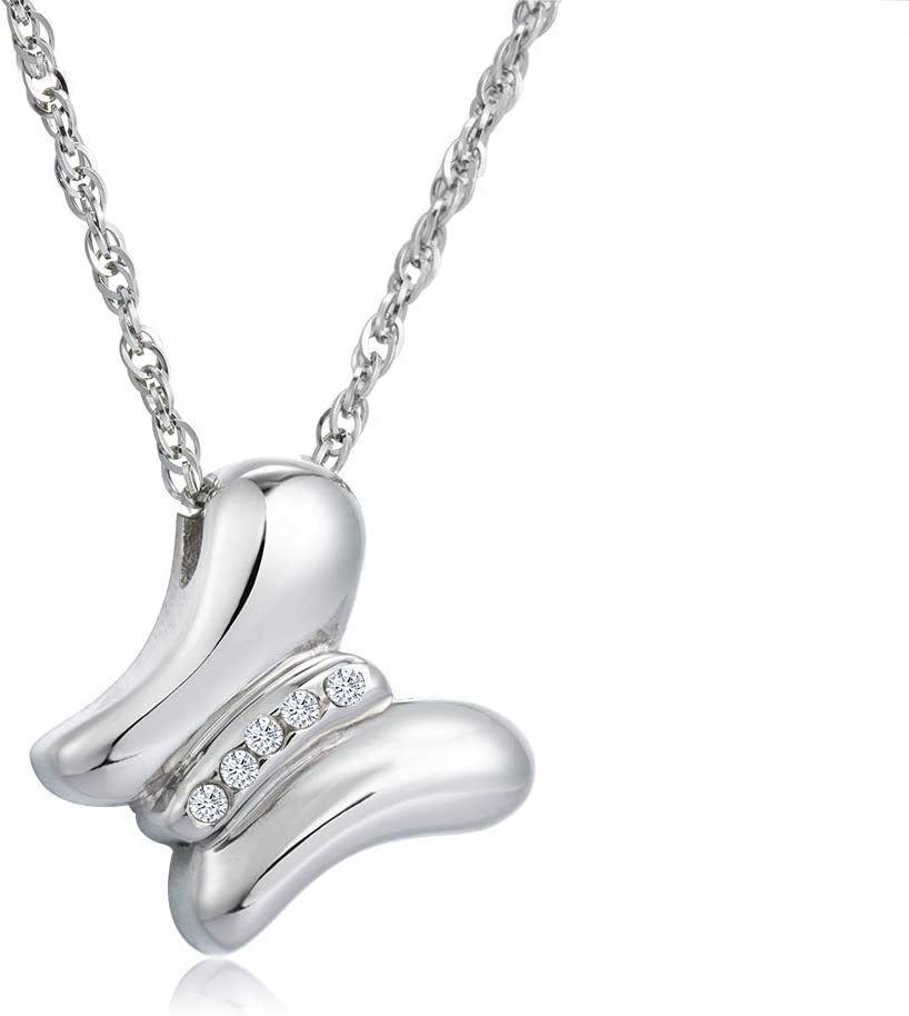 Cremation Kite Shaped Necklace 925 Sterling Silver Ashes Necklace Cremation Jewellery
