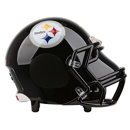 NIMA Portable Bluetooth Speaker, [Officially Licensed by NFL] NFL Football Helmet Super Mini Stereo Speaker with Built-in-Mic, Hands-free Call, AUX HD Sound and Bass - Pittsburgh Steelers - Nfl Football Helmet Design