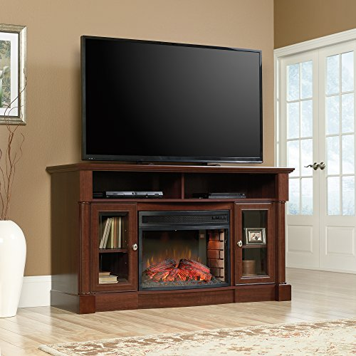 Cherry Entertainment Credenza (Sauder 419117 Entertainment Center, Credenza Fireplace, Select Cherry)