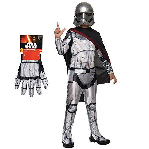 Star Wars Captain Phasma Costume Bundle - Child Large Classic Costume & Gloves -