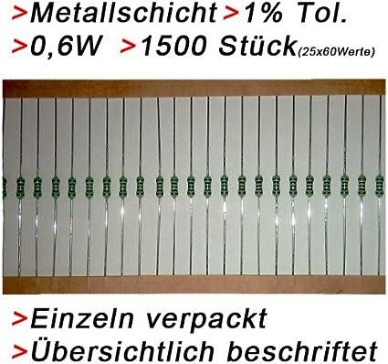 Metallschicht-Widerstand 3,6 Ohm 1/% 0,6W Bauform 0207 gegurtet