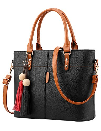 Black PU Handle body 5cm Hand Bag Bags 30 Cross Shoulder Women's Bag Bags 7Bw6Zqq