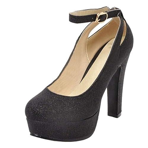 RAZAMAZA Zapatos de Tacon Alto para Mujer  Amazon.es  Zapatos y complementos d56c7acbd2ba