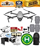 DJI Mavic 2 Pro with Hasselblad 20MP UHD 4K Gimbal Camera Top Speed of 44.7 mph with Extra Batteries, 32GB Micro SD Card, Landing Pad, VR Goggles, Sling Backpack + More (3 Battery Total) -  Pixel Hub