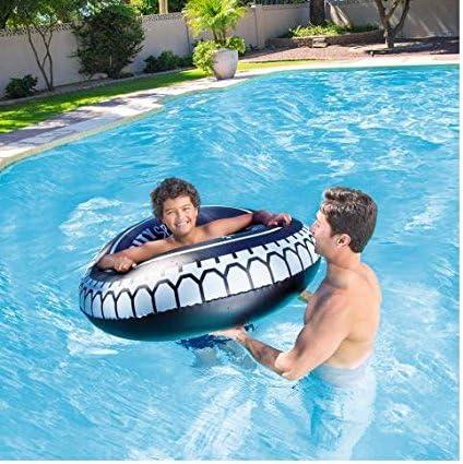 C&C Flotador Hinchable Rueda 119 cm con asas playa piscina Idea ...