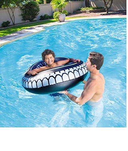 C&C Flotador Hinchable Rueda 119 cm con asas playa piscina ...