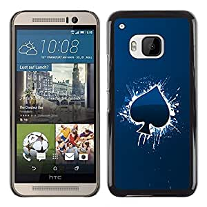 Impact Case Cover with Art Pattern Designs FOR HTC One M9 Cool Blue Ace Of Spade Betty shop