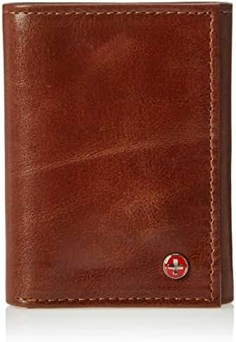 Alpine Swiss Men's Genuine Leather Trifold Wallet