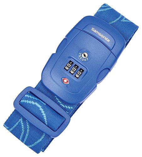 Samsonite Travel Sentry 3-Dial Combination Luggage Strap, Blue Fantasy